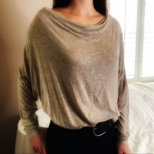 2 LEFT S & M Go To Oversized SOFT Gold Tan Top